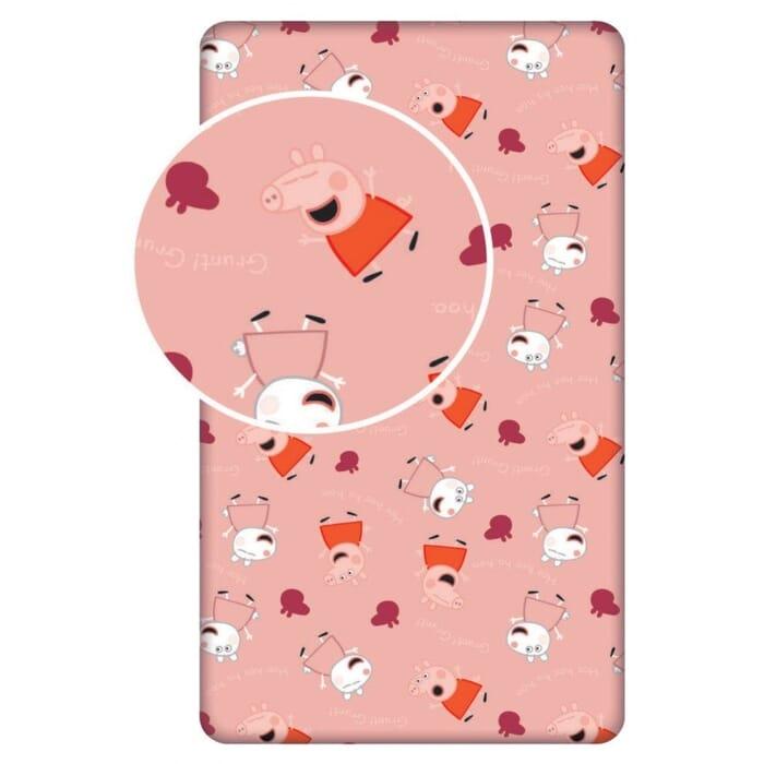 Hoeslaken 90x200 cm met Peppa Pig Standaard