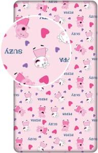 Hearts  Hoeslaken  Eenpersoons  90 x  200 cm  Roze